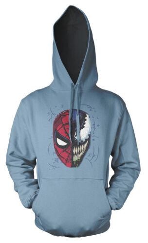Spiderman Venom Half Face Mash Up Adults hoodie