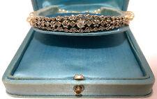A Stunning Georgian 2ct Diamond & Pearl Bracelet Circa 1800's