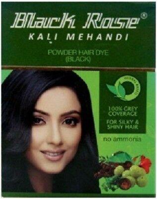 Black Rose Black Mehandi Herbal Henna Powder Gray Hair Dye Color