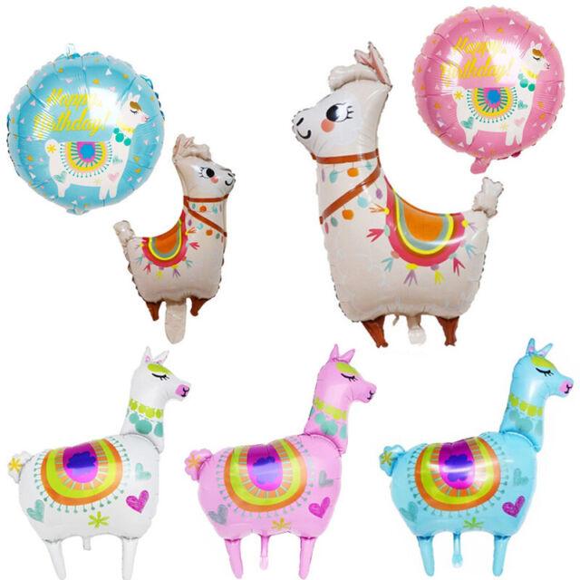 Llama Birthday Party Decor Cartoon Animal Alpaca Foil Helium Balloon New Arrival