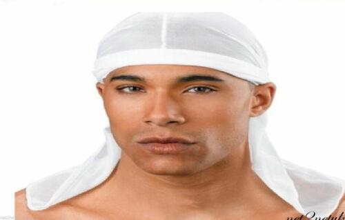 LUXURY TIE DOWN CAP//HEAD SCARF  IN WHITE COLOUR