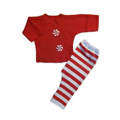 Candy Cane Stripes Christmas Baby Clothes Pants Shirt Preemie Newborn Sizes