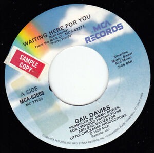"""GAIL DAVIES - Waiting Here For You   7"""" 45"""