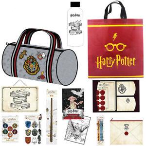 Harry Potter Kids Showbag w/ Duffle Bag/Drink Bottle/Wand/Decals/Badges Set