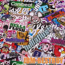 "24""x60"" JDM Cartoon Stickerbomb Car Laptop Vinyl Sticker Wrap Decal Sheet #HF"