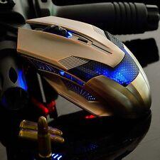 Retro Bronze 2000dpi Optical Einstellbare verdrahtete Spiel-Maus für Laptop PC
