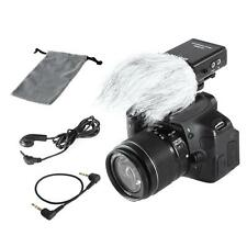 BOYA BY-SM80 Stereo Video Microphone + Windshield for Canon Nikon DSLR Camcorder