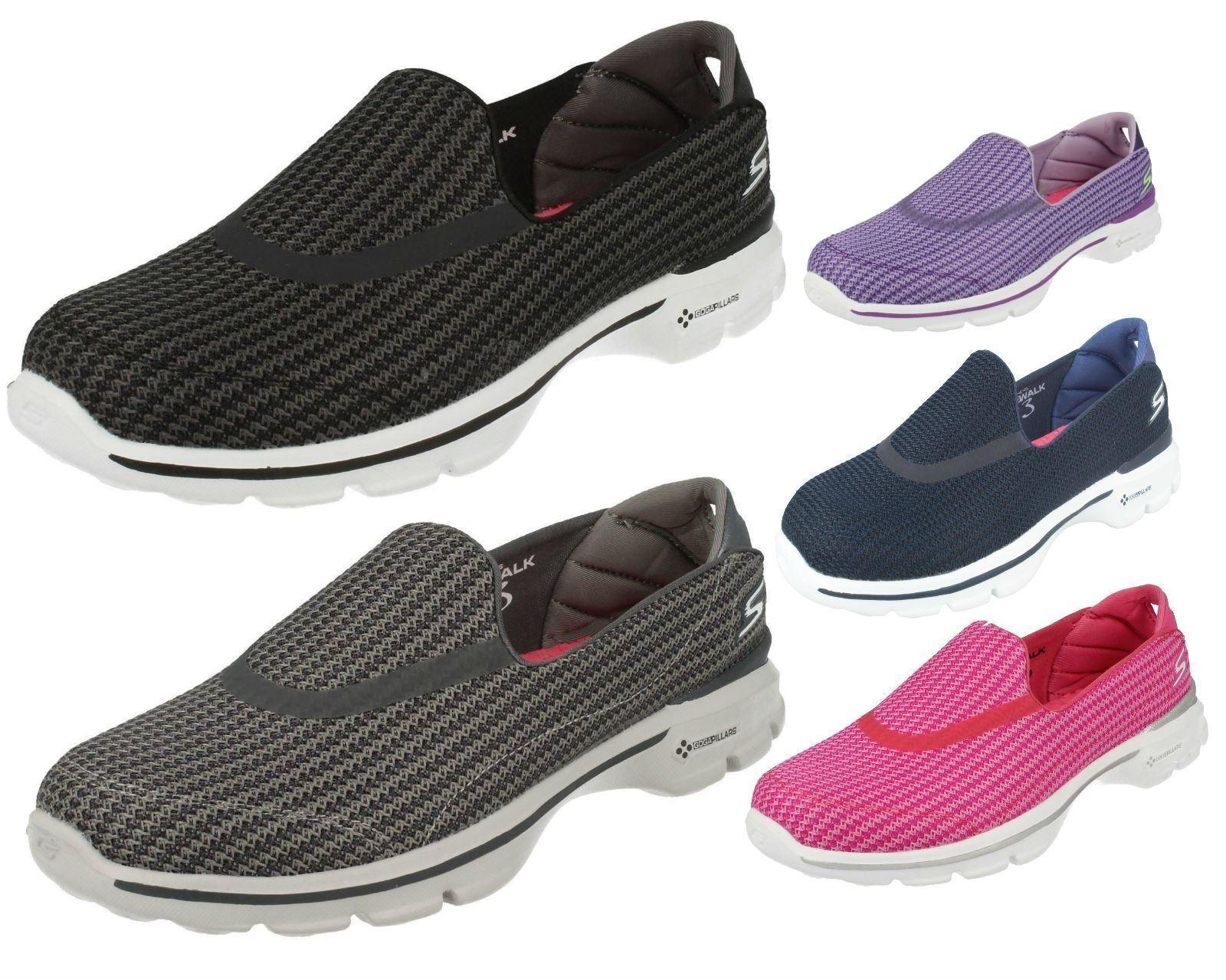 LADIES SKECHERS '13980' GO WALK SHOE 3-SUPER SOCK SLIP ON SHOE WALK db16e8