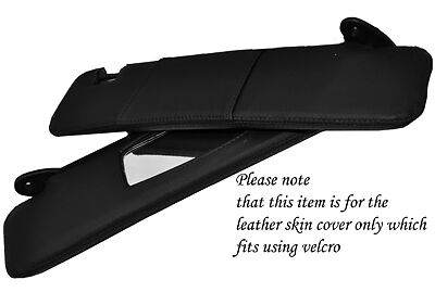 BLACK STITCH FITS FIAT COUPE 1993-2000 2X SUN VISORS LEATHER COVERS ONLY
