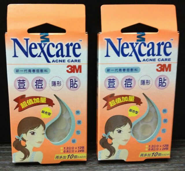 92pcs 3M Nexcare Acne Pimple Zit Sticker Assorted Dressing Heal Patch Extra Pack