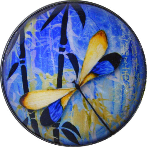 Crystal Dome Button Dragonfly /& Bamboo w//Moon 1 /& 3//8 inch DFLY 65 FREE US SHIP