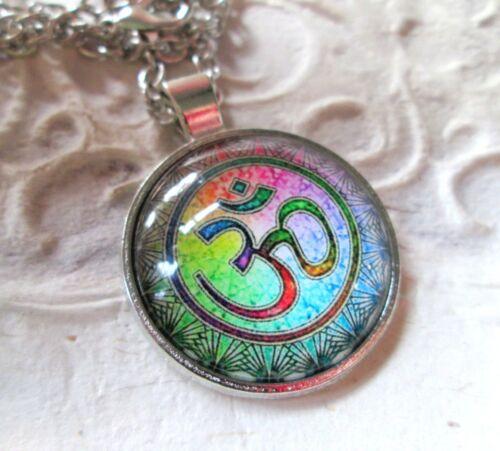 Collar om remolque cabochon cadena joyas asiático statement hippie Boho nuevo