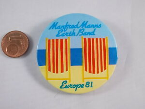 Vieux-bouton-Manfred-Manns-terre-BANDE-Europe-Tour-1981-badge-broche-epingle