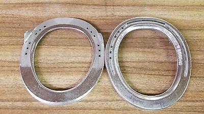 Kerckhaert Triumph Aluminum Egg Bar Horseshoes Clipped Size 0 Front One Pair