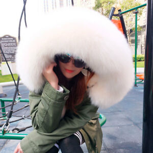 Short New Coat Fur Hooded Luxury Parka Jacket Cotton Women Large Real Collar wB4ZRO