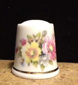 Vintage Thimble Floral PARBUS West Germany