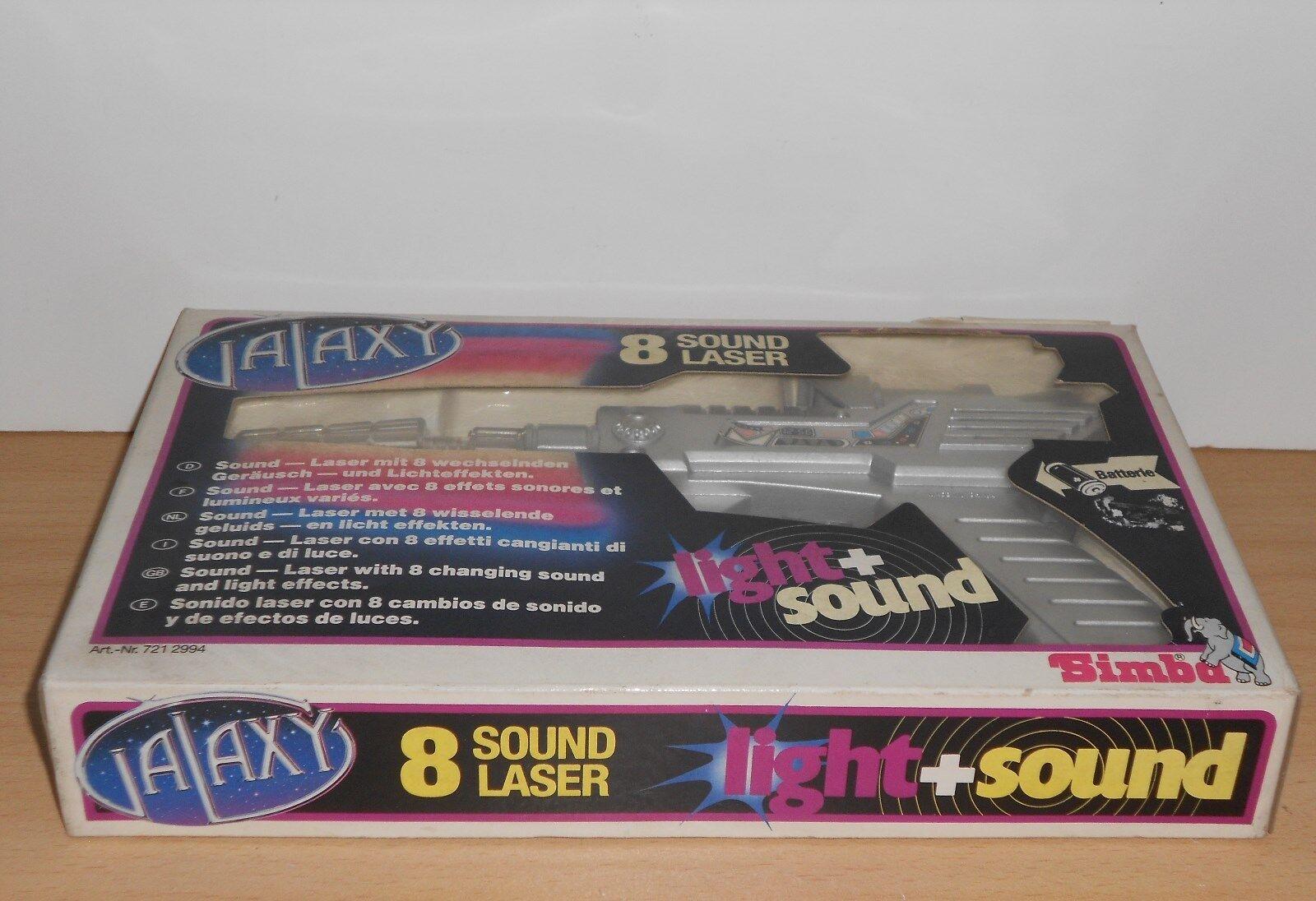 Vintage 80s Galaxy Laser SPACE GUN Sound Laser Galaxy light SIMBA - New 5268de