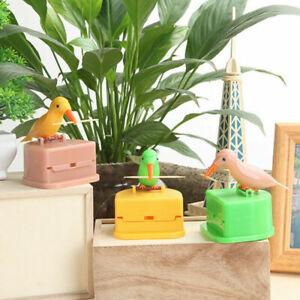 Automatic-Toothpick-Box-Cartoon-Bird-Push-Type-Toothpick-Holder-Dispenser-N7D3
