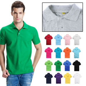 US-Sports-T-Shirt-Men-039-s-Short-Sleeve-T-Shirt-Slim-Fit-Cotton-Casual-Polo-Tee