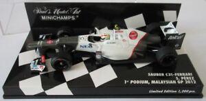 F1 1/43 Sauber C31 Ferrari Perez 1er podium Gp Malaisien 2012 Minichamps