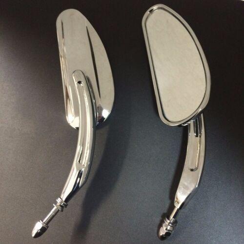 H Chrome Mirrors For Harley '82-later models except VRSCF,14-later FLHTKSE