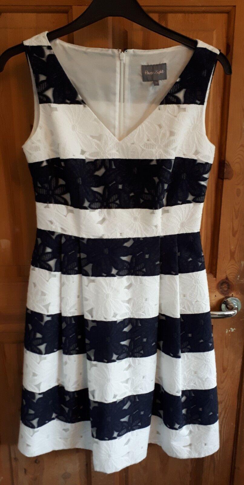Phase Eight Bea Bea Bea Stripe Tea Dress Fit & Flare Wedding Size 10 RRP  VGC (15) 748e36