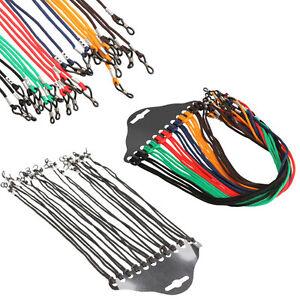 12pcs Colorful/Black Eyewear Nylon Reading Glass Neck Cord Strap Eyeglass Holder