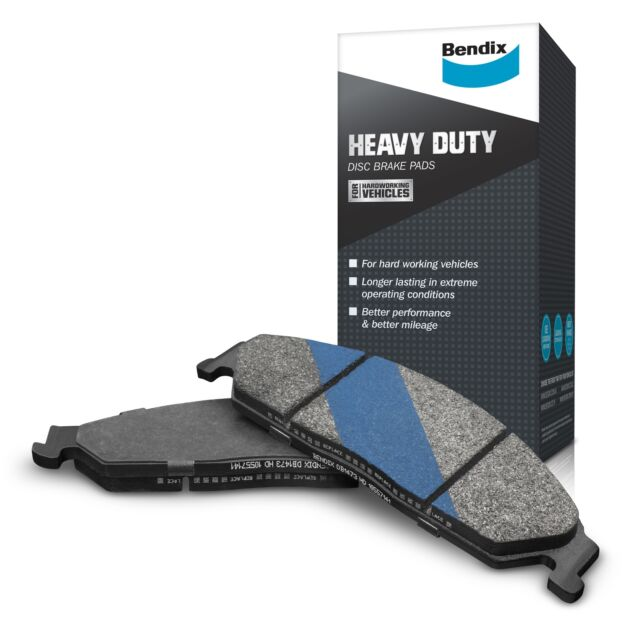Bendix Heavy Duty Brake Pad Set Front DB409 HD fits Ford Courier 2.0 (PC), 2....