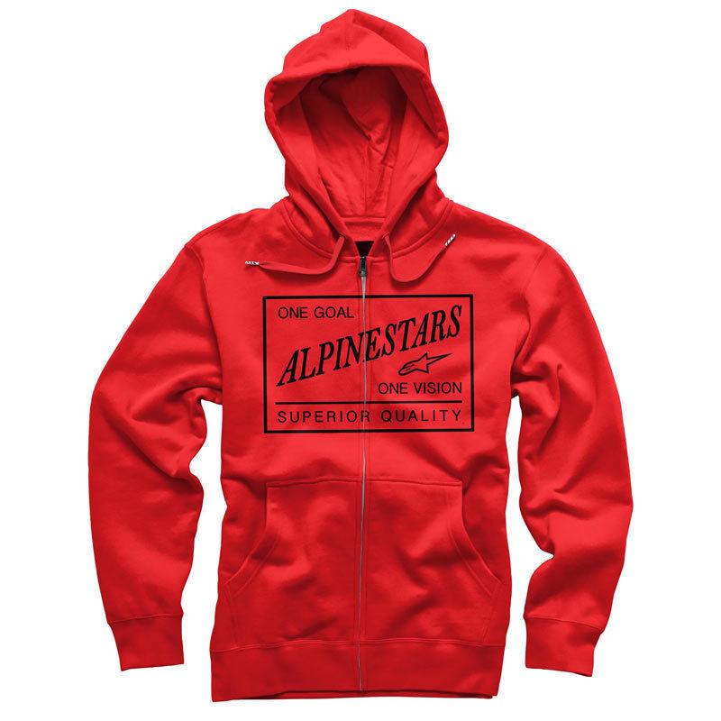 Alpinestars Überlegen Fleece Kapuzenpullover (M) Rot
