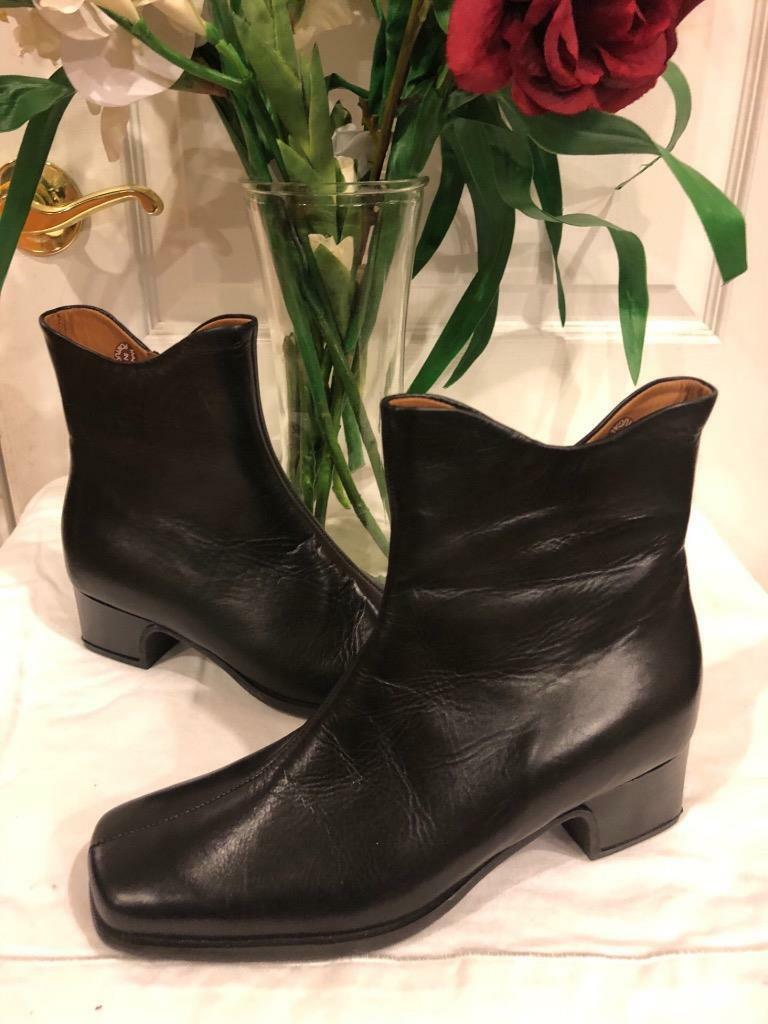 Nwob MEPHISTO black leather ankle boots shoe shoe shoe size eu 4.5 us 7 (1400 190894