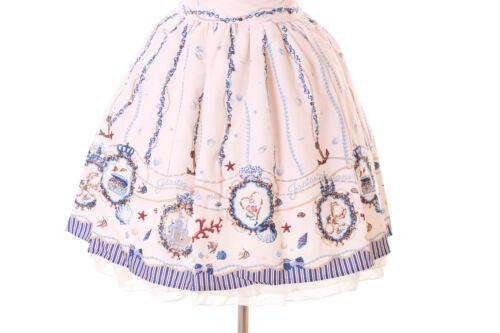 1 Gothique Lolita Vintage Jsk Manches Miel 29 Beige Coquillage crème Océan CrH67H5qw