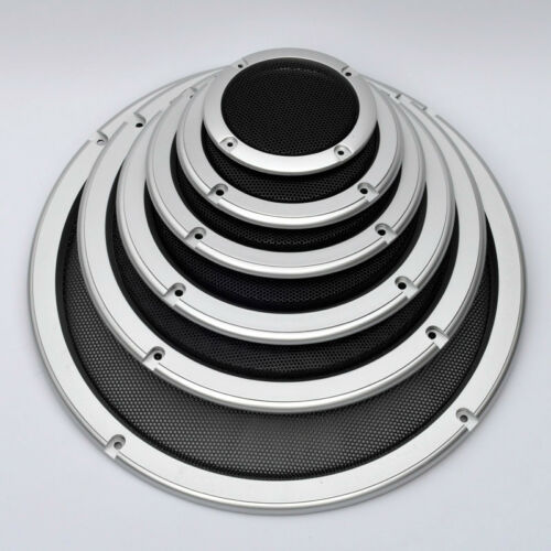 "1pcs 4/""//5/""//6.5/""//8/""//10/"" inch Speaker Cover Decorative Circle Metal Mesh Grille #1"