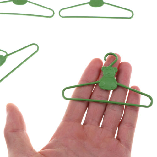 10 Pcs Plastic Doll Clothes Hangers Dress Clothes Accessories for Dolls  SP