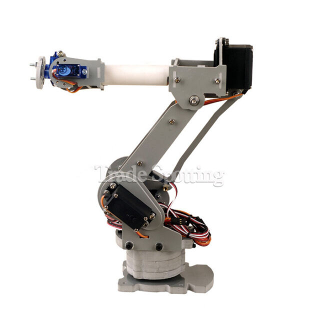 Fully Assembled 6-Axi Mechanical Robotic Arm Clamp for Arduino with Servo Motors