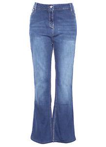 Plus-Size-New-Ladies-Womens-Blue-Indigo-High-Waist-Flarey-Boot-Cut-Denim-Jean