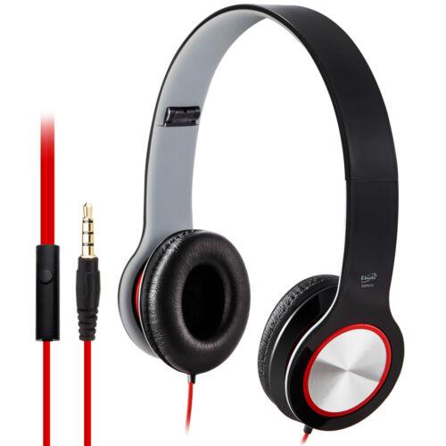 E-books S13 Foldable Headphones In-Line Control Sport Running Child Boys - Black