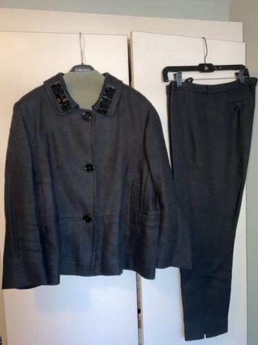 Max Mara Black Suit Size 14/16