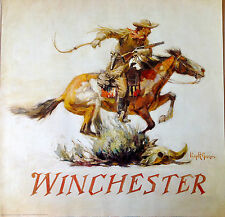 WINCHESTER FIREARMS LOGO COWBOY  WITH GUN ON HORSE  POSTER  PHILIP GOODWIN USA