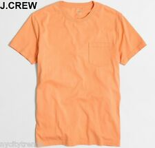 New J.CREW T-shirt pastel orange pocket plain basic tee cotton slim fit nr M NWT