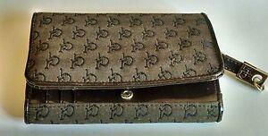 b9e9ce19a3 Caricamento dell'immagine in corso Roccobarocco-portafoglio-borsa -borsetta-tessuto-pelle-vintage