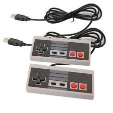 2X Classic Gaming PC USB Controller For Retro Nintendo NES Windows Gamepad Gray