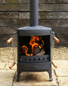 Hellfire Garden Cast Iron Stove Cooker Bbq Patio Heater
