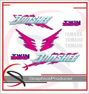 Yamaha Banshee Decals 1992 White Model Graphic Reproduction Custom Full Set