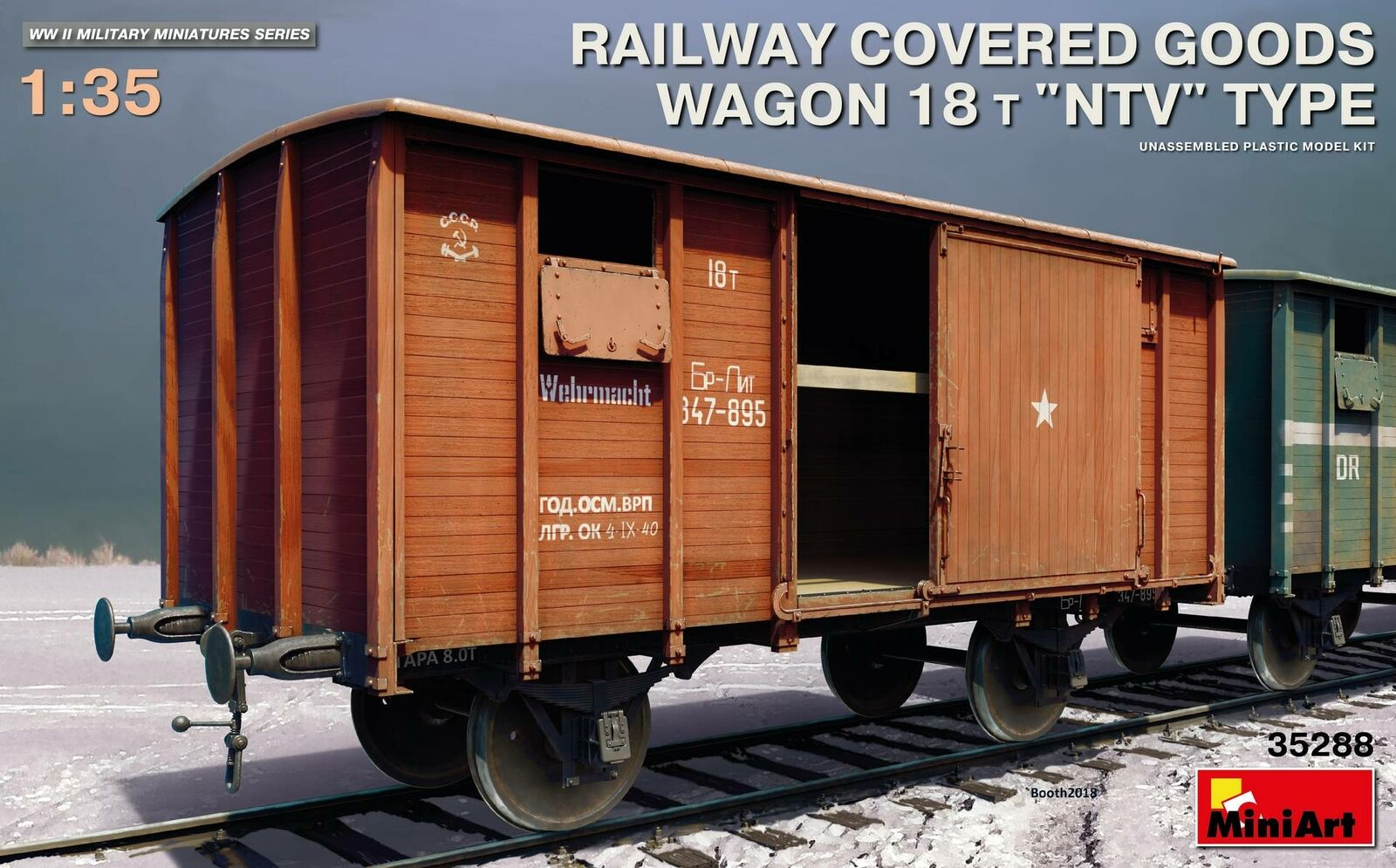 Miniart 35288 - 1/35 Ferrovia Coperto Goods Wagon 18 T