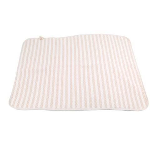 Toddler Infant Baby Changing Mat Cover Diaper Nappy Change Pad Striped Mat FG