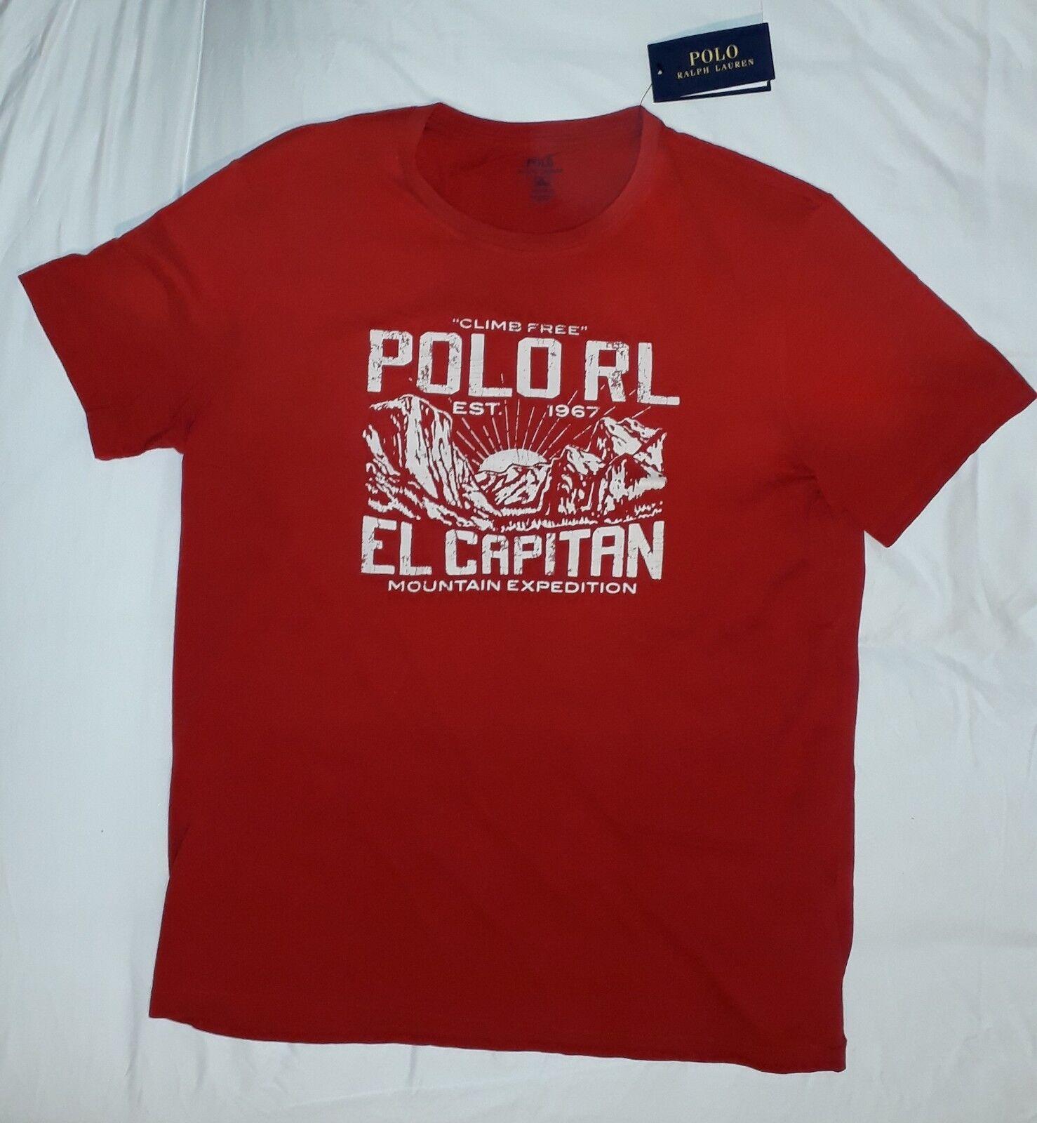 POLO Ralph Lauren salita rosso T SHIRT XL EL CAPITAN Alpine neve spiaggia