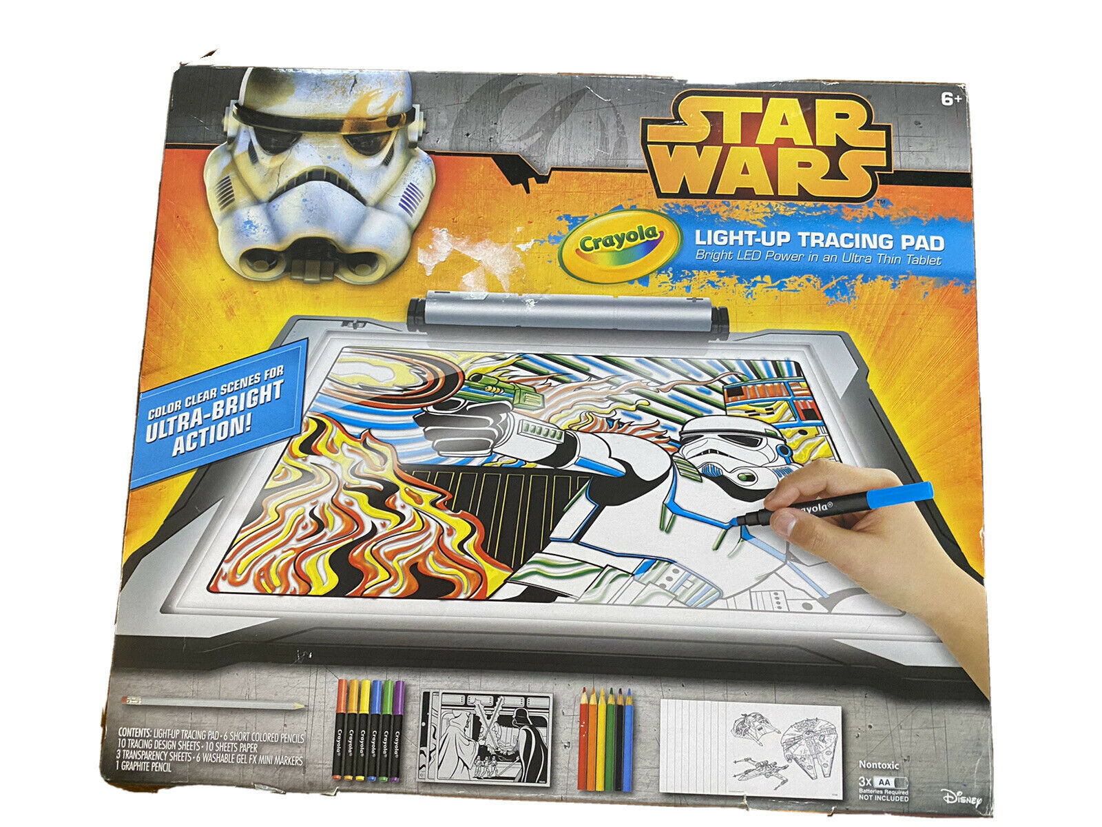 Crayola Star Wars Light Up Tracing Pad 071662068554 For Sale Online Ebay
