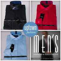 Steven Land Boys Solid Slim Spread Collar Dress Shirt 8,10,12,14,16,18,20