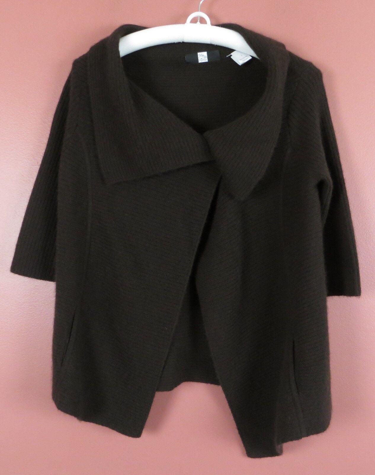 NEW James Perse Classic Zip Vintage Fleece Hoodie- Heather grigio grigio grigio - Size Small / 1 b742a0
