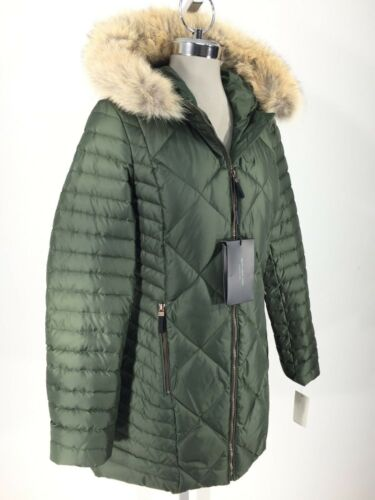 Andrew Marc New Olive Down Kameron Jacket Real fur hood Women/'s size XS S